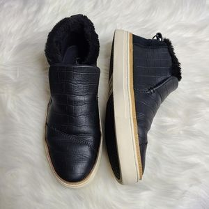 Toms Paxton leather  Faux Fur chukka Sneakers